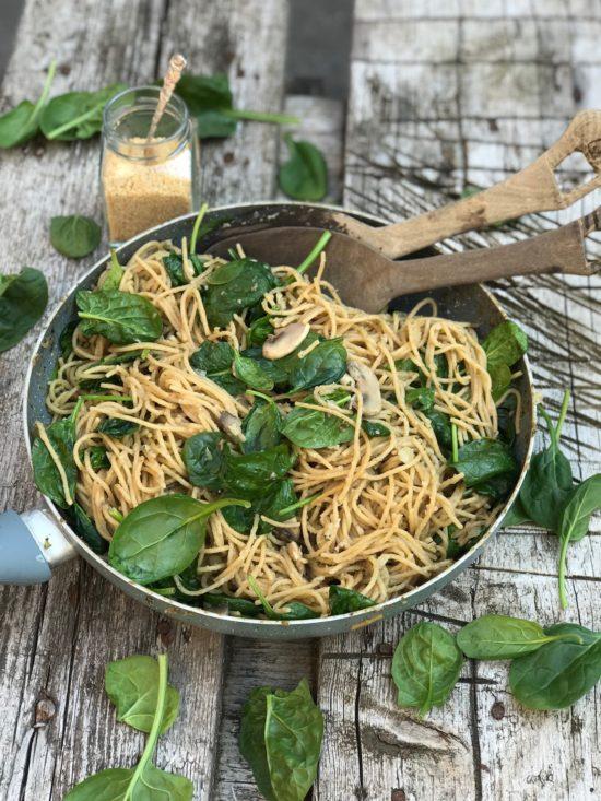 Romige champignon pasta